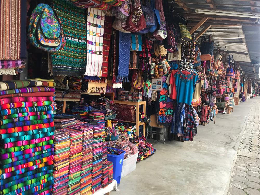 Visiting a market in Guatemala